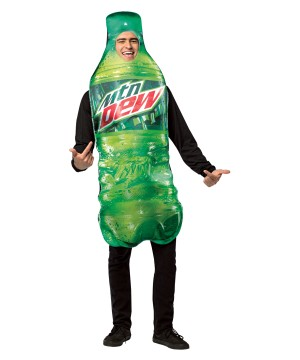 Mountain Dew Bottle Mascot Costume