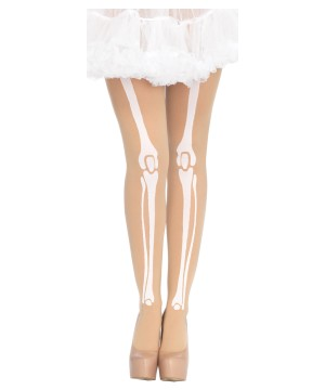 Nude Skeleton Bone Tights