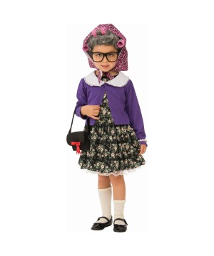 Little Old Lady Girl Costume