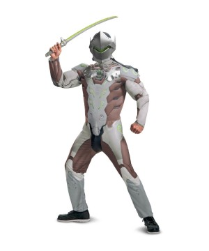 Overwatch Genji Mens Muscle Costume