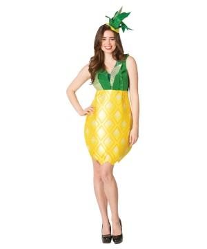 Womens Pineapple Dress Costume
