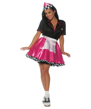 Pink Car Hop Waitress Costume