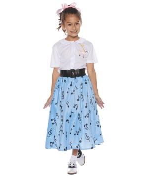 50's Poodle Skirt Girl Costume