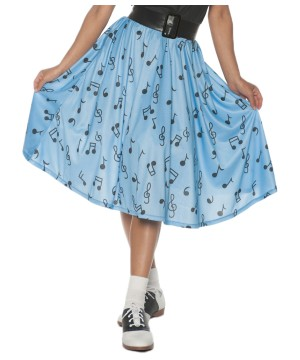 Musical Note Poodle Skirt