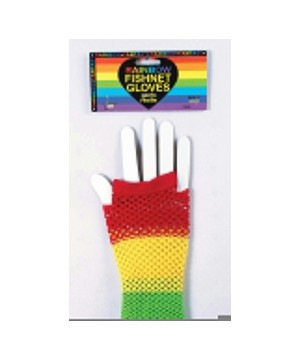 Fishnet Rainbow Gloves