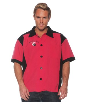 Mens Red Bowling Shirt