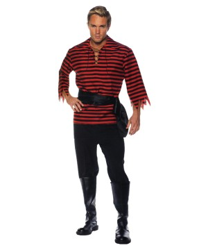 Red Pirate Men Costume