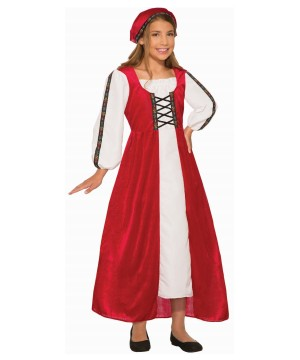 Girls Renaissance Maiden Costume