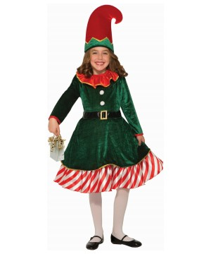 Santa Little Elf Girl Costume