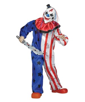Scary Circus Kids Clown Costume