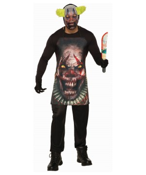 Horror Clown Apron and Mask