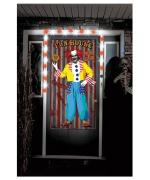 Scary Clown Door Decal