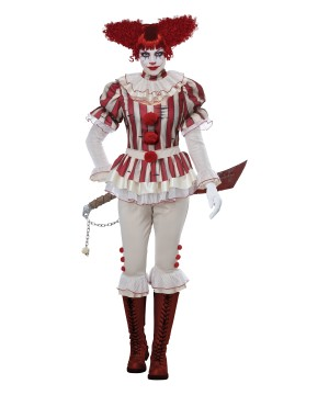 Sadistic Clown Women Costume