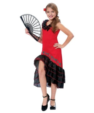 Senorita Dancer Girl Costume