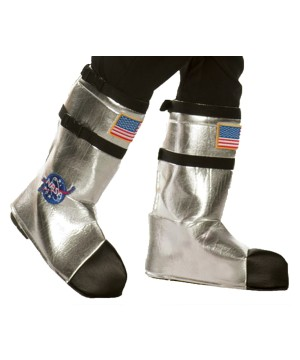 Silver Astronaut Adult Boot Tops