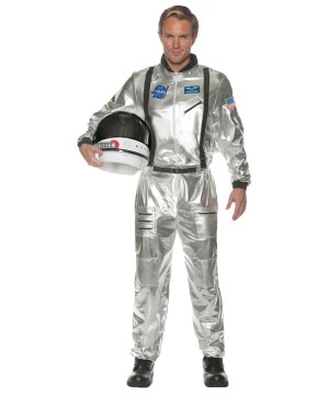 Silver Astronaut Men Costume