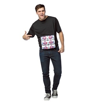 Mens Six Pack T Shirt Costume