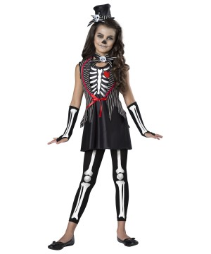Skeleton Cutie Girls Costume