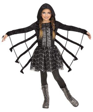 Girls Sparkling Spider Costume