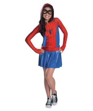 Spidergirl Hooded Dress Costume