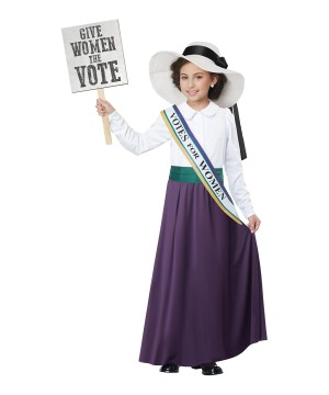 American Suffragette Girl Costume