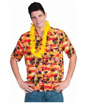 Mens Sunset Hawaiian Shirt