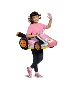Super Mario Bros. Peach Kart Girls Costume