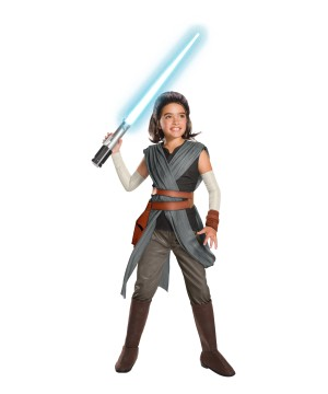 Super deluxe Star Wars Rey Girls Movie Costume