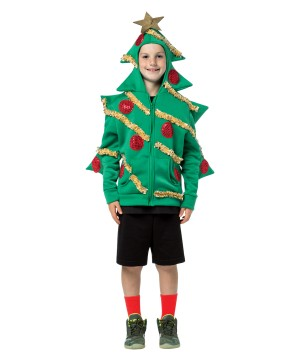 Teen Boys Christmas Tree Hoodie
