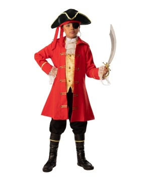 The Red Pirate Boy Costume