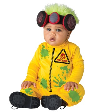Toddlers Toxic Waste Hazmat Suit Costume