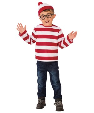 Where's Waldo Boys Costume