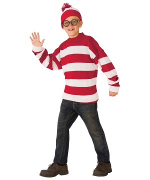 Where's Waldo Boys deluxe Costume
