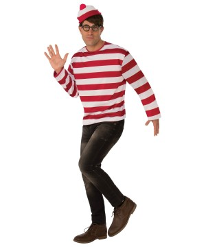 Where's Waldo Mens Costume