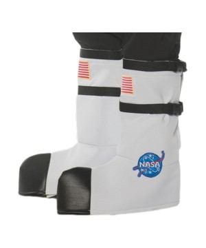 White Astronaut Adult Boot Tops