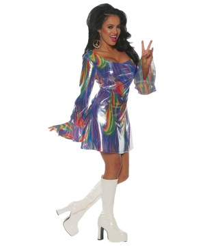 Women's 70s Sexy Disco Dance Floor Costume