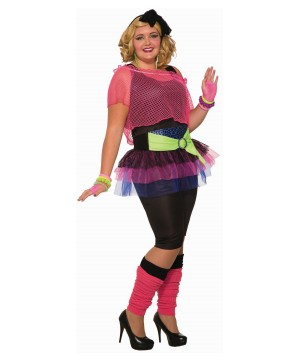 Women's plus 80s Disco Night Costume