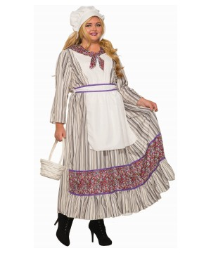 Womens plus Colonial Costume