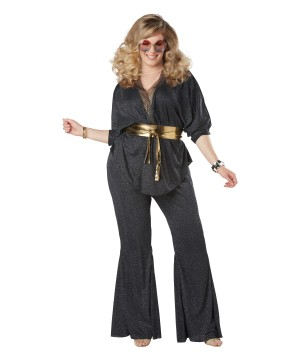 Women's plus Dazzling 80s Costume