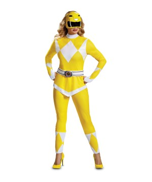 Yellow Power Ranger Women Costume