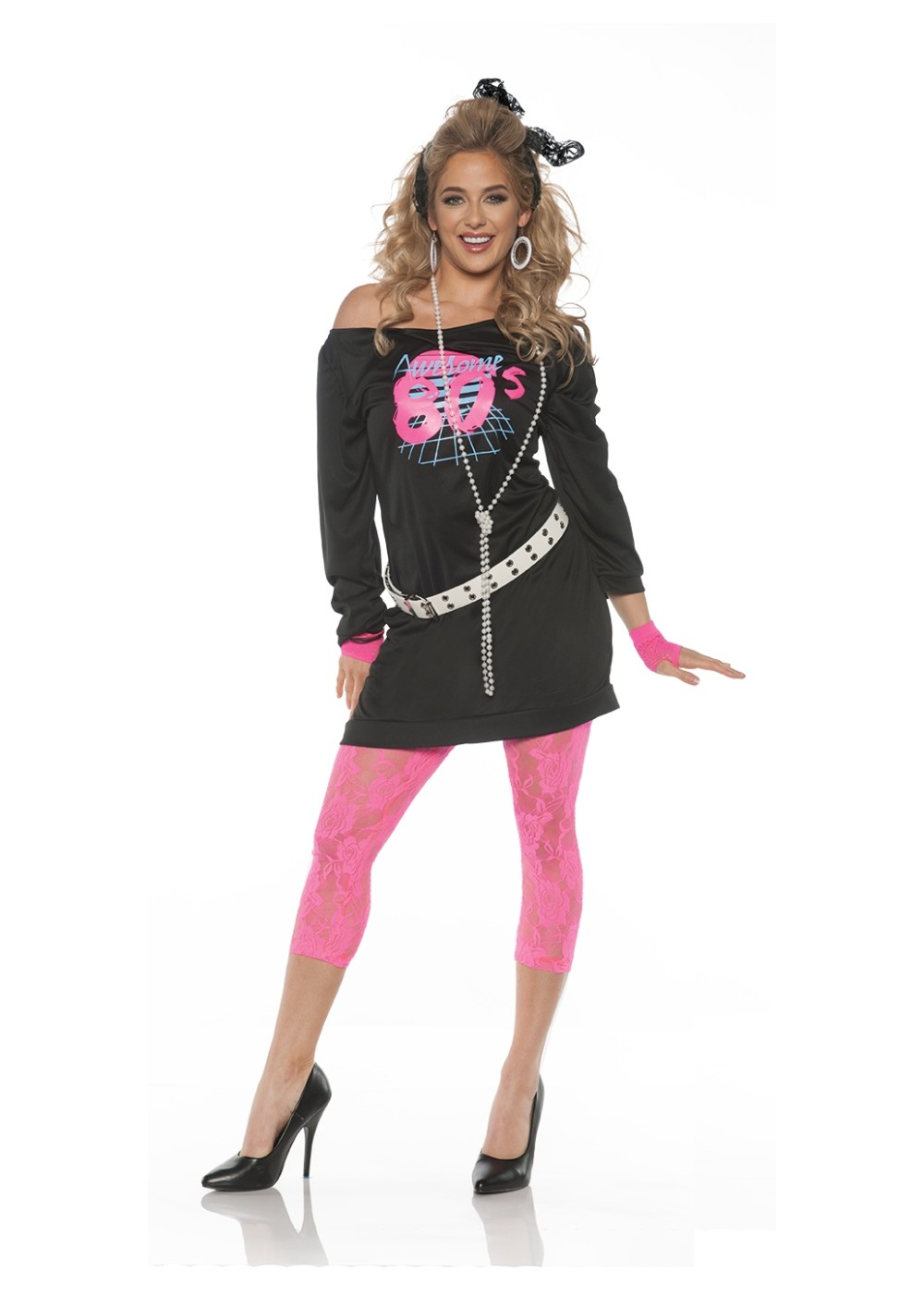 80s Mini Dress Women Costume - 1980s Costumes 659da709c3