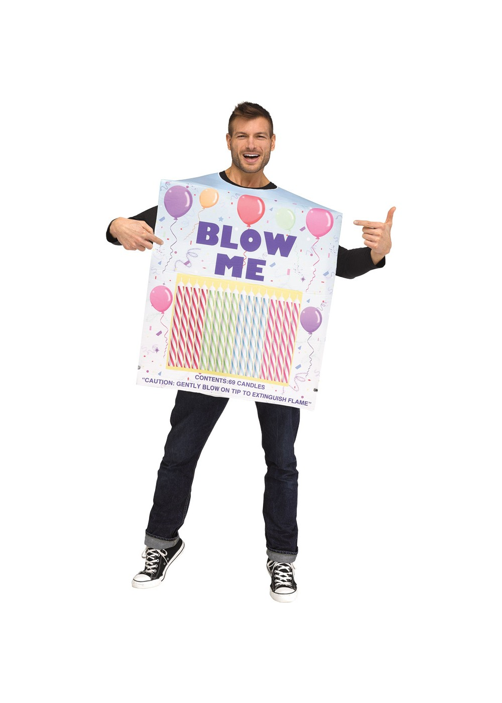 Mens Blow Me Candle Costume