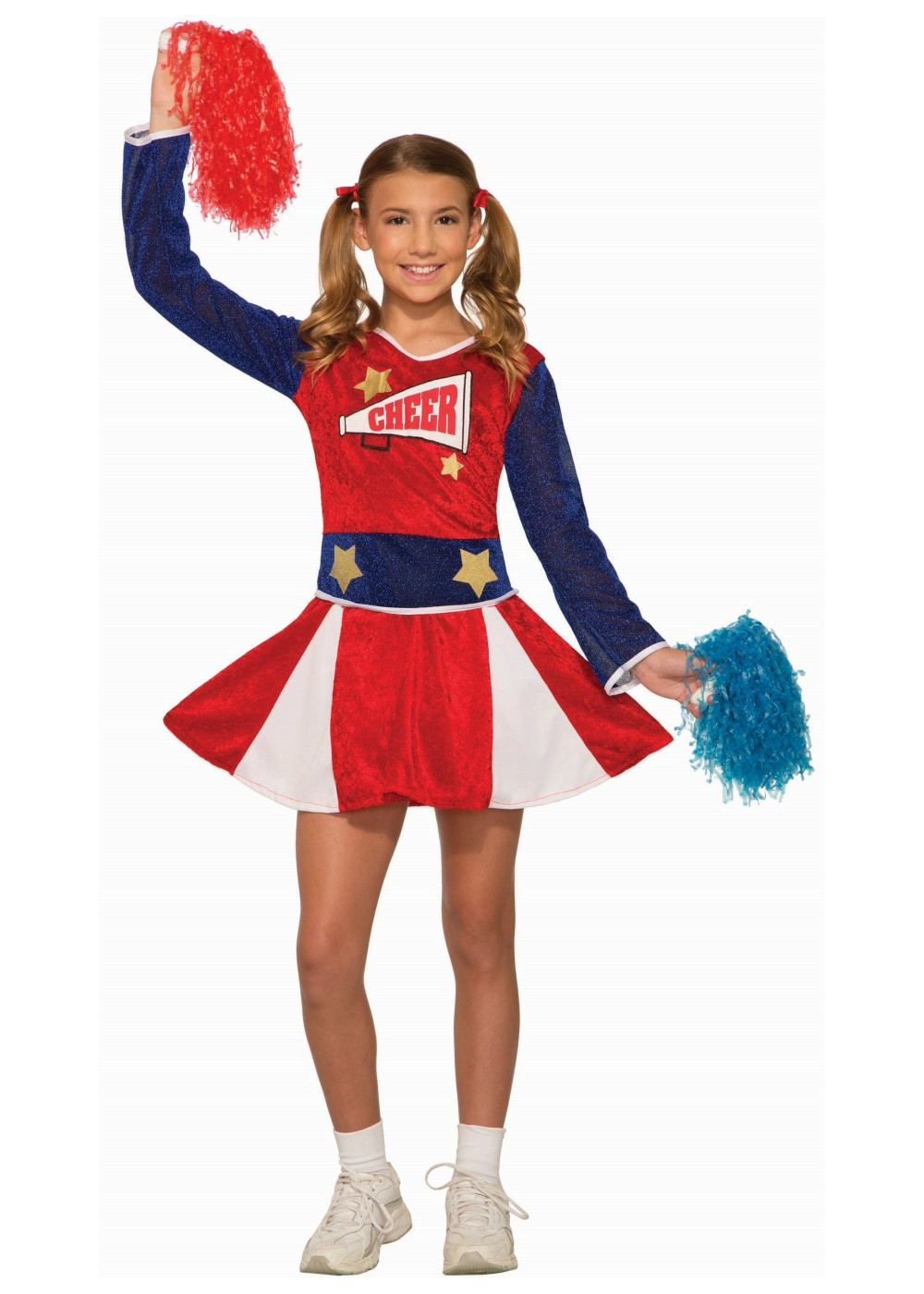 Kids Cheerleader Girls Costume