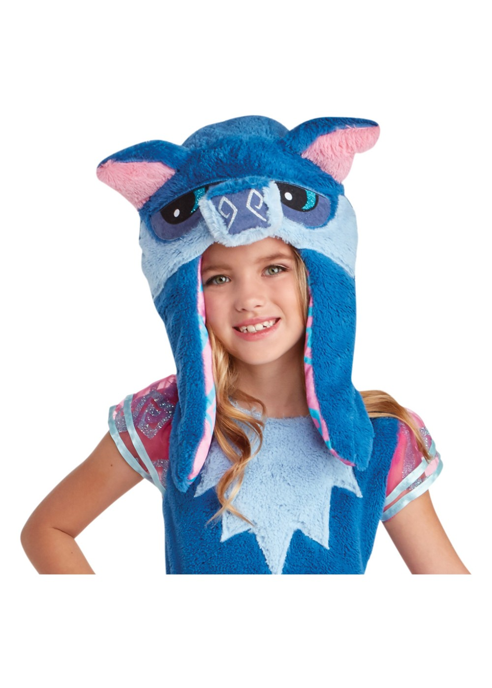 Kids Child Blue Wolf Hood Accessory