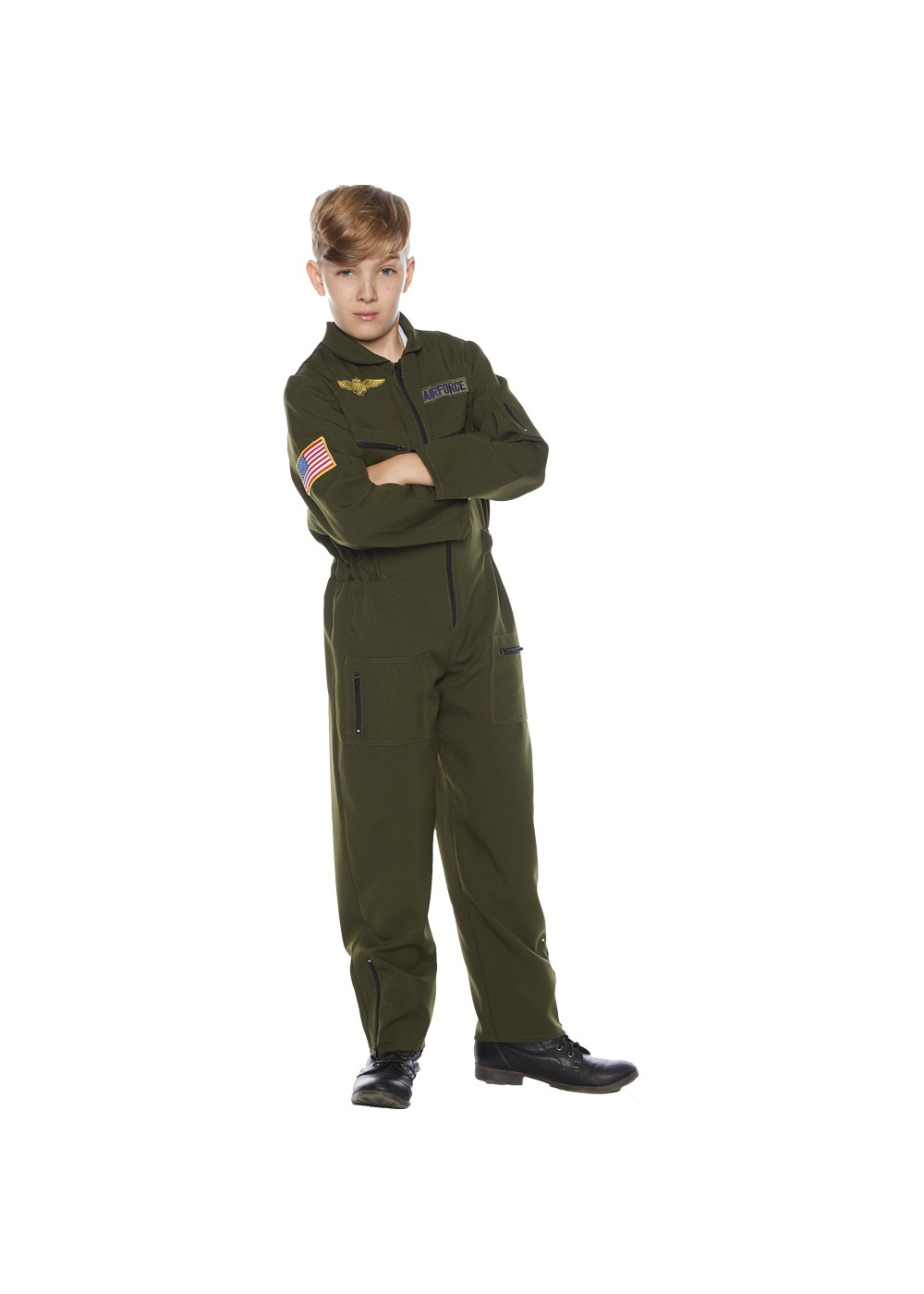 Kids Child Flight Suit Costume