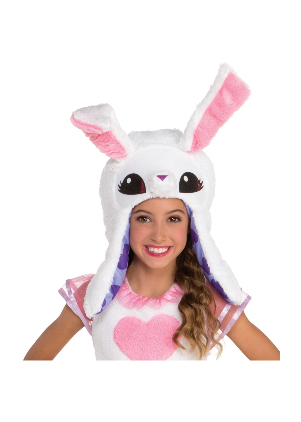 Kids Child White Bunny Hood Accessory