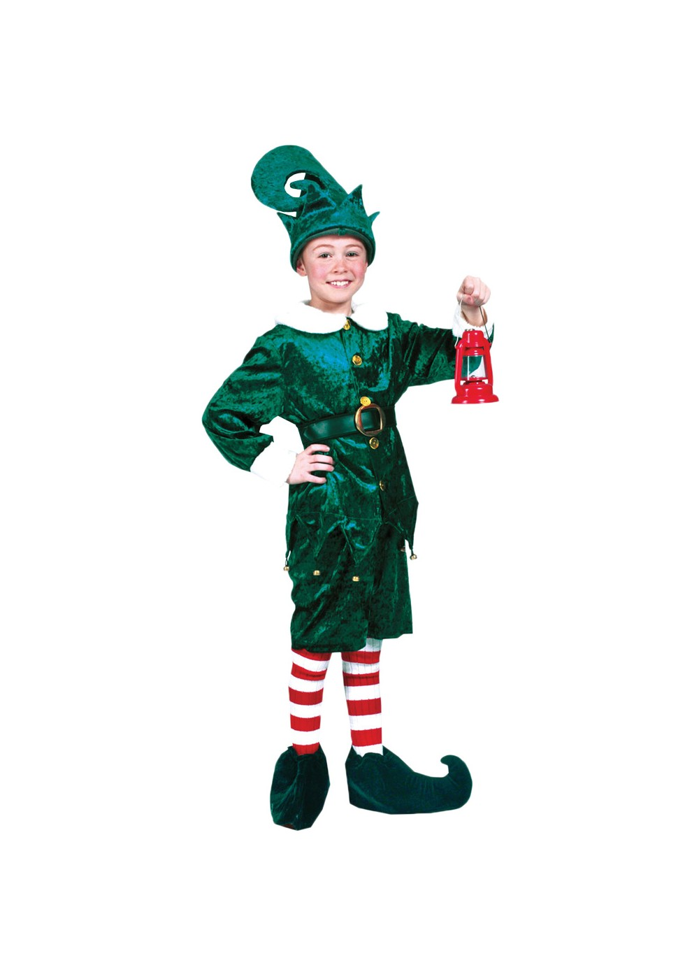 Kids Childs Holly Jolly Elf Costume