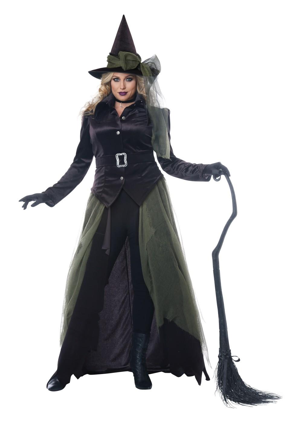 Gothic Dark Witch Women Plus Size Witch Costumes