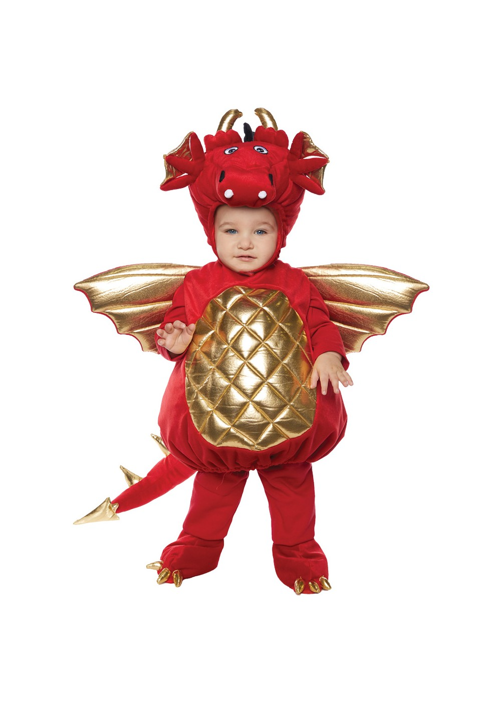Fiery Red Dragon Plush Baby Costume