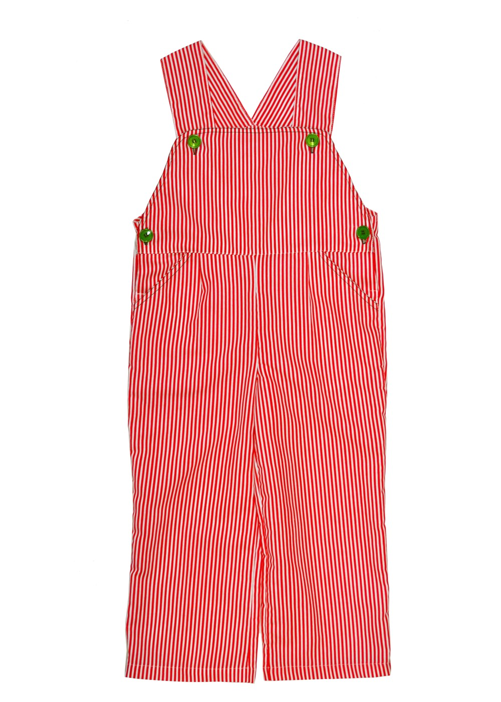 Kids Striped Unisex Overalls